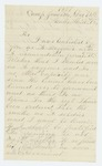 1861-12-12  F. Whiting refuses to act as anything other than a waggoner