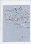 1861-12-18  George Washburn requests information regarding promotion of son Cyrus