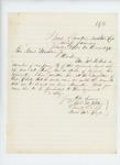 1861-12-23  Charles Tilden informs Governor Washburn that Mr. Post wishes to rejoin the regiment