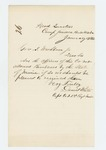 1862-01-29  Captain Daniel White requests revolvers for the regimental officers
