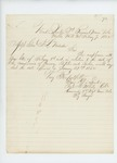 1862-02-07  Colonel Charles Roberts writes Adjutant General Hodsdon regarding commissions of Garnsey, Staples, and Forbes
