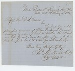 1862-02-18  Colonel Charles Roberts sends commission of William H. Rogers to General Hodsdon for discharge