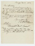 1862-02-19  B.H. Mace forwards receipts of George Locke for services at Willets Point, New York