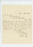 1862-03-06  Captain Charles Tilden recommends Sergeant George E. Noyes for promotion