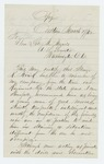 1862-03-17  Captain Charles Tilden recommends Private Alonzo K. Mirick [Myrick?] for promotion