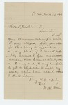 1862-03-24  Dr. Allen writes to Governor Washburn regarding his appointment