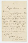 1862-03-25  Sergeant William P. Holden requests payment for Henry W. Pollard