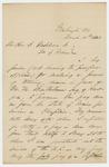 1862-03-25  Chaplain John F. Mines writes to Governor Washburn regarding Mines' power of attorney