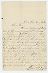 1862-05-25  Alvin Saunders inquires about a missing descriptive list