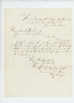 1862-06-13   Colonel Charles W. Roberts recommends W.R. Currier for promotion to Captain