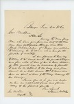 1862-06-24  Samuel H. Dale recommends Joseph Chamberlain for commission in the 16th Regiment