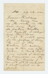 1862-07-13  William Grandlemir solicits a commission in the regiment