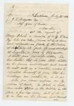 1862-07-21  J.F. Parker writes on behalf of Henry Black, Company G