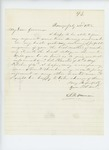 1862-07-22  S.B. Morrison requests instruction on how to return to regiment