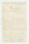 1862-07-26  Colonel Charles Roberts requests promotion of Thomas Foster and Colin Downs