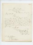 1862-07-31  Colonel Charles Roberts informs Adjutant General Hodsdon that the regiment has chosen Reverend Small for chaplain