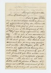 1862-08-01  Elijah W. Hasey requests a commission for his son William H. H. Hasey in the 18th Regiment