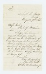 1866-08-07  Charles A. Gardner, Jr. requests his certificate of discharge