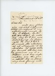 1863-10-31  John M. Stevens requests information on allotment for mother of George B. Chase