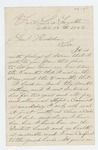 1863-11-18  Thomas B. Chalmers requests release from prison