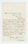 1863-09-21  H.P. Torsey recommends Noah Jewett for Lieutenant