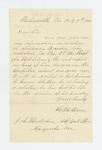 1863-07-09  H.M. Stone requests information on welfare of Stillman Buxton