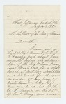 1863-07-26  Thomas Belcher requests discharge after court-martial