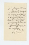 1863-04-16  G.P. Brown requests abstract of enlistment roll of Harrison F. Gould, Company A