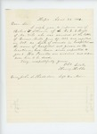 1863-04-24  Henry Hobbs requests information on welfare of Robert Athearn