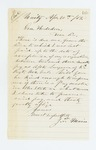 1863-04-30  J.T Main requests payment for services as assistant surgeon