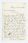 1862-11-28  L.J. Moore regarding bed sacks for the regiment