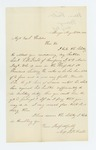 1862-08-04  Miss P.B. Field requests a furlough for her brother, Lieutenant S.B. Field