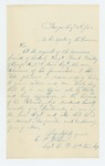 1862-08-08  Captain A.P. Wilson recommends Orderly Sergeant Frank Trickey for promotion