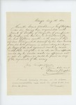 1862-08-08  Daniel Chaplin recommends Frank Trickey for Major in the 20th Maine Regiment