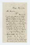 1862-08-09  Albert W. Paine recommends Captain Albion P. Wilson for promotion to field officer