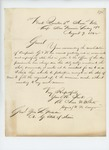 1862-08-09  Colonel Charles Roberts responds to Adjutant General Hodsdon regarding consolidation of Companies G and K