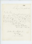 1862-12-14  Colonel Charles Roberts advises that Lieutenant Forbes be dropped from the rolls