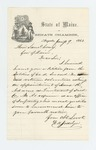 1864-01-09  W.H. Josselyn submits a petition for appointment of Isaac R. Adams as Lieutenant