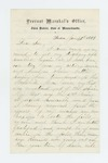 1864-01-30  Kennedy Stewart requests discharge from regiment in order to re-enlist