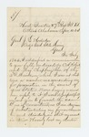 1864-04-10  W.H. Sanger requests papers regarding promotion and discharge