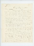 1864-07-26  C.P. Brown requests assistance obtaining bounty for Andrew J. Getchell, wounded at Bull Run/Manassas