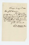 1863-05-22  G.C. Hatch requests Adjutant General Hodsdon be present at a reception for the 2nd Maine Regiment