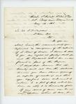1863-05-16  Brigadier General James Barnes writes to Lieutenant Colonel Sargent