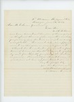 1863-06-04  Dr. S.B. Morison recommends Dr. W.R. Benson for appointment as surgeon