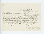 1863-06-05  Colonel George Varney recommends Dr. W.R. Benson for appointment as surgeon