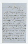 1862-08-16  Daniel Ricker requests a discharge for his ailing son