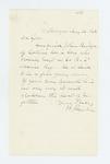 1862-08-26  Hannibal Hamlin requests the promotion of John Bridges' son