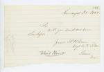 1862-08-30  Sergeant S.H. Down requests envelopes