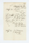 1862-09-09  Lieutenant George W. Brown requests copies of 1862 Acts of Congress