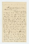 1862-09-24  Sidney Drinkwater writes in support of Alonzo K. Myrick as drill officer
